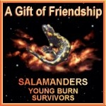 Friendship award received from Salamanders Young Burn Survivors (opens in new window)
