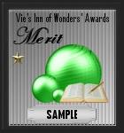Merit award sample
