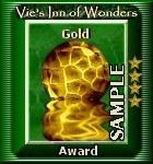 Old gold award sample