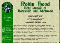 Content Site of the Year 2005: Robin Hood - Bold Outlaw of Barnsdale and Sherwood (opens in new window)
