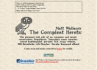 Content Site of the Year 2013: Matt Wallace's: The Compleat Heretic (opens in new window)